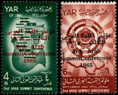 ~~~ Yemen 1966 - 3rd Arab Summit Conference - Mi. 471/472  ** MNH OG ~~~ - Yemen