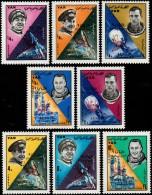 ~~~ Yemen 1966 - Space Luna IX Overprint - Mi. 494/501  ** MNH OG ~~~ - Yemen