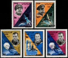~~~ Yemen 1966 - Space Surveyor Overprint - Mi. 514/518  ** MNH OG ~~~ - Yemen