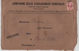TP 74 Perforé S/Devant De Lettre Papiers D'affaires V.Pont à Celle Réutilisée Par TP Oc 3 Censure Charleroi V.BXL AP2081 - Guerre 14-18
