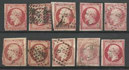 LOT DE NAPOLEON N° 17A ET B DIVERS ETAT - 1853-1860 Napoléon III