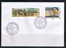 ATM, Lisa2, Pli, FDC, IP 1.30€, Mémoire Transfrontalière ,Verdun-Bastogne,  Avec Le Timbre TOUS HEROS, Issu Du Collector - 2010-....