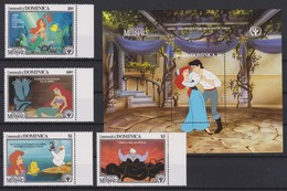 2160  WALT DISNEY  - Commonwealth Of DOMINICA ( The Little MERMAID ) Year International Literacy II . - Disney