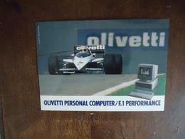 Carte OLIVETTI - NELSON PIQUET - BRABHAM - BMW F1  -  17 X 12 Cm - Car Racing - F1