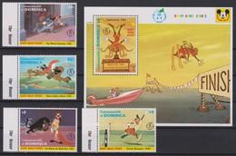 2161  WALT DISNEY - Commonwealth Of DOMINICA ( 60 Th Anniversary Of DINGO ) Goofy About Sports . - Disney