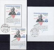 Imperforiert Porträt Präsident Svoboda 1975 CSSR 2293,Block 31A+B O 48€ Bloque Blocs Sheets Bf CSR Tschechoslowakei - Tschechoslowakei/CSSR
