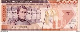 Mexico P.88 5000 Pesos 1989 Unc - Messico