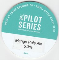 WEST BY THREE BREWING CO (SWANSEA, WALES) - MANGO PALE ALE - KEG CLIP FRONT - Signs