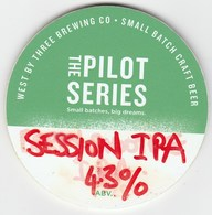 WEST BY THREE BREWING CO (SWANSEA, WALES) - SESSION IPA - KEG CLIP FRONT - Signs