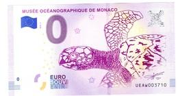 Billet à 0€ Musée Océanographique De Monaco TORTUE Année 2018 NOUVEAUTE - Monnaie De Paris
