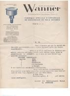 G-9 Lettre En-tête Société Ets WANNER Fabrique D'appareils De Graissage Stauffer Automates - 1950 - ...
