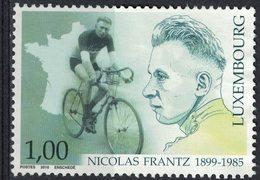 Luxembourg 2010 Sans Gomme Used Cyclisme Sportifs Nicolas Frantz - Nuevos