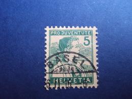 """1915- Timbre N 149- 5 Vert """"pour La Jeunesse"""" Oblitéré   Cote  12   Net  4 - Suisse"""