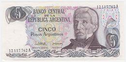 Argentina P 312 - 5 Pesos Argentinos 1983 1984 - AUNC - Argentina