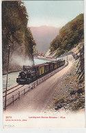 Dampf-RhB In Der Klus - Naturstrasse Landquart-Davos - Sehr Schöne AK      (P-145-60418) - Trains
