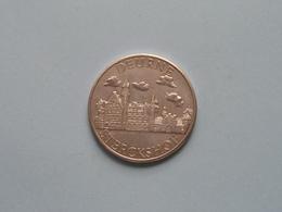 DEURNE - STERCKSHOF Familie Wouters - 100 Bijlen - 1981 ( Zilverkleur > 35 Mm. - Details, Zie Foto ) - Tokens Of Communes