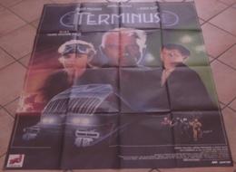 AFFICHE CINEMA ORIGINALE FILM TERMINUS Pierre-William GLENN Johnny HALLYDAY Karen ALLEN 1987 SCIENCE-FICTION - Posters