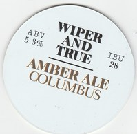 WIPER AND TRUE BREWING CO (BRISTOL, ENGLAND) - AMBER ALE COLUMBUS - KEG CLIP FRONT - Signs