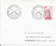COTE D'OR 21 - DIJON   - CACHET COMMEMO N° 1772 - 1957 - DESCRIPTION - TIMBRES N° 1076 EUROPA  TARIF 8 12 51 - Postmark Collection (Covers)