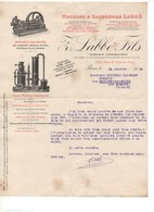 G-7 Lettre En-tête Moteurs Gazogènes LABBE Avec Sa Signature 24 Janvier 1930 - 1900 – 1949