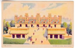 CP797 A Century Of Progress, 1933 Illionis Chicago 114. Nunnery Of Uxmal, Maya Temple - Chicago