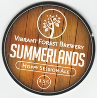 VIBRANT FOREST BREWERY (TOTTON, ENGLAND) - SUMMERLANDS SESSION ALE - KEG CLIP FRONT - Signs