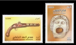 Algeria 2016 Mih. 1818/19 Museum Exhibits. Pistol From Ottoman Times And Gorgon MNH ** - Militaria