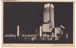CP802 A Century Of Progress, Illionis Chicago 225. General Motors Building At Night - Chicago