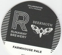 RUNAWAY BREWERY (MANCHESTER, ENGLAND) - BEERMOTH FARMHOUSE PALE - KEG CLIP FRONT - Signs