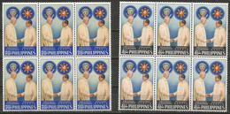 Philippines - 1960 President Eisenhower Visit Blocks Of 6 MNH **   Mi 669-70  Sc 823-4 - Philippines