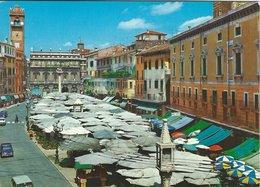 Piazza Erbe - Vegetable Market - Gemüse Markt.  Verona   Italy.  # 7750 - Markets