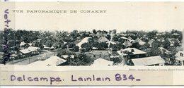 - Vue Panoramique De CONAKRY - Guinée Française, En 2 Volets, Double Carte,  Non écrite, épaisse, TBE, Scans. - French Guinea