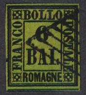 ROMAGNE- 6 Bai Verde Giallo (usato) / FALSO - 1859 - Romagna