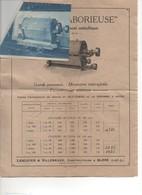 G-3 Env Courrier Prospectus Centrifuge Laborieuse LESCUYER & VILLENEUVE  Ex Simon & Pernot Moteur Moulin  Bléré - 1900 – 1949