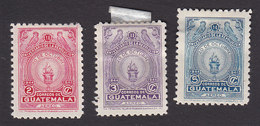 Guatemala, Scott #C148-C150, Mint Hinged, Torch, Issued 1947 - Guatemala