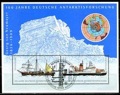 BRD - Mi Block 57 = 2229 / 2230 - OO Gestempelt (A) - 110-220Pf/56-112C   Antarktisforschung - [7] West-Duitsland