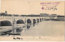 CROIX ROUGE - Sté DE SECOURS AUX BLESSES - COMITE DE TOURS - HOPITAL N° 10 -1914 - Croix-Rouge