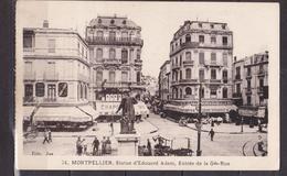 FRANCE  MONTPELLIER STATUE D EDOUARD ADAM ENTREE DE LA GDE RUE SOUS ETUI PLASTIQUE - Montpellier