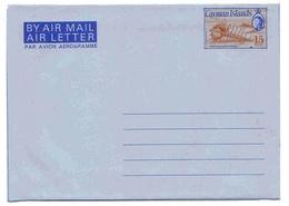 Cayman Aérogramme 15 Cts Aerogram Air Letter Entier Entero Ganzsache Lettre Carta Belege Airmail Cover - Iles Caïmans