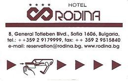 Rodina Hotel Keycard - Sofia - Bulgaria - Hotel Keycards