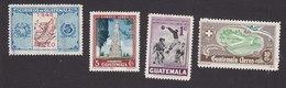 Guatemala, Scott #C157, C167, C171, C178, Used/Mint Hinged, Map, Monument, Soccer, Hospital, Issued 1948-50 - Guatemala