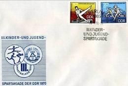 DDR - 14 7 1970 FDC KINDER UND JUGENDSPARTAKIADE - Francobolli