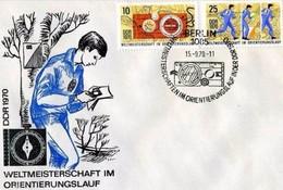 DDR - 15 9 1970 FDC WELMEOSTERSCHAFTEN IM ORIENTIERUNGSLAUF - Francobolli