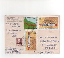 Timbres Yvert N° 843 , 955 , 961 X 2 , Sur CP , Carte Postale , Postcard Du 06/12/1971 Pour La France - Brazil
