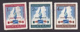 Guatemala, Scott #C185-C187, Used, National Flag And Emblem, Issued 1953 - Guatemala