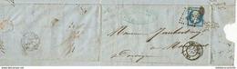 """FACTURE-LETTRE """"FORGES DE LA CITE,USINE DU ROUSSEAU"""" PERIGUEUX 1857 + TIMBRE NAPOLEON 3 - 1800 – 1899"""