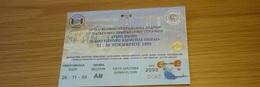 1 Greek Ticket 70th World Weightlifting Haltérophilie Men Championship 21-28/11/1999 Ticket Stub - Tickets D'entrée