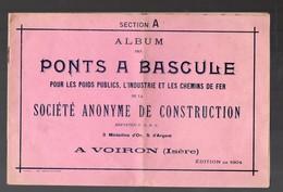 Voiron (38 Isère) Album Des PONT A BASCULE 1914 (PPP8840) - Publicités
