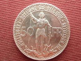 BELGIQUE Superbe Monnaie De 50 Frs 1935 Centenaire Des Chemins De Fer RARE - 1934-1945: Leopold III