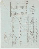 B Du R: Connaissement Maritime MARSEILLE / ALGER Bouvière, Vapeur Le Phénicien De 1848 Transport Balles Tissus TB - 1800 – 1899